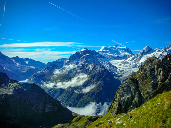 The magnificent Grand Combin keeps you company for days on the Haute Route
